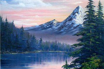 Mountain Landscape scene oil painting by artist Joan A Brown