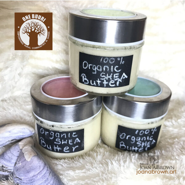 Artist Joan A Brown One Buuri Project Shea Butter Product ad img