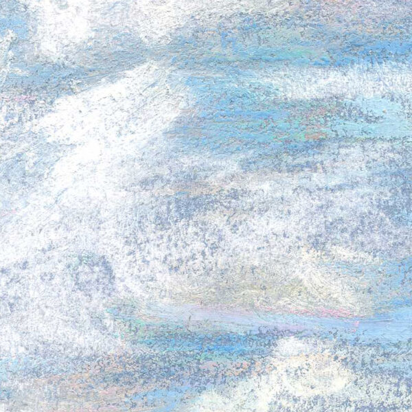 Canadian Prairie Skies 9 x 12 inch Pastel Art closeup image3 by Artist Joan A Brown