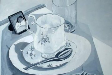 Plate Setting Still Life by Artist Joan A Brown image