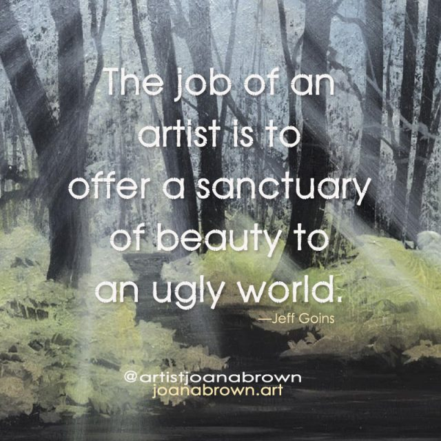Artist Joan A Brown Artist Life Quotes image