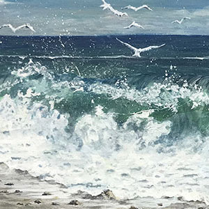 artist Joan A Brown featured art seascape seashore image