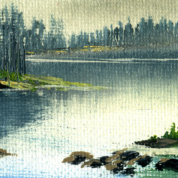 How to paint calm water with oils: A step-by-step Zoom workshop for beginner oil paint enthusiasts img1